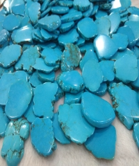 60-80mm blue Turquoise Cabochon  Slab Stone Green Blue Phone Sockets Pop Grips Magnesite Free Form Slab Beads 1pcs