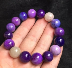 Genuine Sugilite Bracelet Round Beads 8inch Round Beads et, Really , Sugilite Gemstone Beads 8-16mm