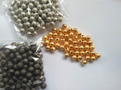 Top Quality 100pcs 4\5\6\8\10mm 18K gold Matte Round spacer Beads Solid Silver,antique silver,gold,rose g