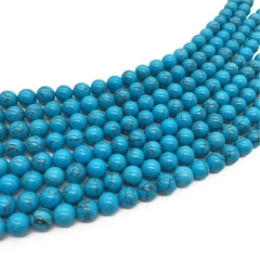 free ship --20strands 8mm turquoise dark blue veins beads for bracelet ,necklace
