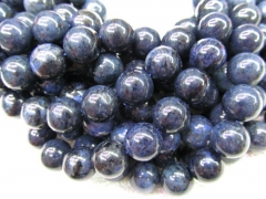 genuine Dumortiterite gemstone 8-16mm full strand round ball Sapphire blue flashy crab Dumortierite beads