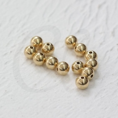 100 Pieces Raw Brass Smooth Ball Spacer - Near Round  gold smooth Round spacer Beads Solid Silver,antique silver,gold,rose g