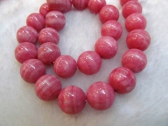 100strands 10mm pink rhodochrosite gemstone round veins jewelry beads