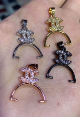 batch 50pcs Micro CZ Pave earrings crown heart bead  15-30mm