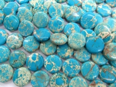 high quality 2strands 10 12 16 18 20 25mm Sea Sediment Imperial Jasper stone Round Disc Coin royal blue mixed jewelry bead