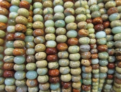 High Quality 2strands 4-12mm Natural Aqua Terra Jasper gemstone rondelle abacus wheel heishi rainbow jewelry beads
