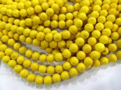 turquoise beads 2strands 2-20mm Turquoise stone Round Ball yellow assortment loose Bead