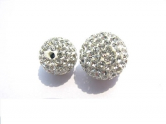 wholesale grey beads 100pcs 4-16mm Micro Pave Clay Crystal rhinestone Round Ball clear white grey black mixed Charm beads