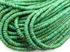 High quality 2strands 3x4 4x6 5x8mm Stabilzed Turquoise Rondelle Abacus smooth Blue Green yellow Loose Bead
