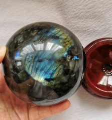 "Gift --Wholesale Genuine Labradorite Polished Sphere 50mm(2"") - Natural Crystal Ball round - Reiki Healing - Raw Meditation"