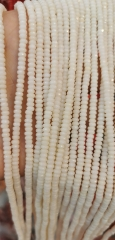 2-8mm Coral Jewelry Faceted Abacuse -heishi beads - red -Pink-Oranger-White bamboo coral beads -beads - ocean shell beads wholes