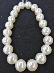 Natural Sea Shell Pearls round beads,White shell jewelry 16 inche 1 strand 3mm 4mm 6 mm 8mm 10mm 12mm 14mm 16mm 18mm 20mm