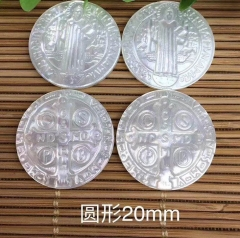 Both Carved 10pcs  14mm  20mm 25mm Genuine Pearl shell jewlery  round disc  Mary  Jesus Cameo Carved Christ Cameo cabochon mop shell Beads