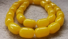 topaz yelow amber  jade jewelry barrel drum rice 10-14mm  loose beads Amber-green-cherry -pink-red- blue  Necklace 16inch