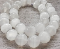 "Natural Selenite jewelry flashy Round Size 4mm 6mm 8mm 10mm 12mm 16"" Strand for bracelet-necklace-earring"